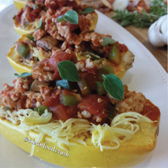 spaghetti squash with quick lean meat sauce